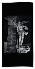 Bath Towel featuring the photograph St. Michel Slaying The Dragon by Elf Evans