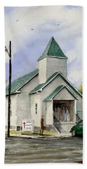 St. Paul Congregational Church Bath Towel by Sam Sidders