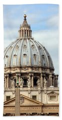 St. Peters Basilica Hand Towel by Debi Demetrion