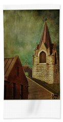 St Peter's By Night Greeting Card Bath Towel