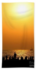 Bath Towel featuring the photograph St. Petersburg Sunset by Peggy Hughes