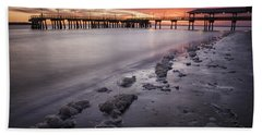 St. Simons Pier At Sunset Bath Towel by Fran Gallogly