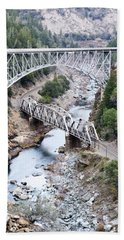 Stacked Bridges Hand Towel