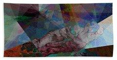 Stain Glass I Bath Towel by David Bridburg
