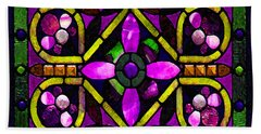 Stained Glass 3 Bath Towel