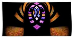 Stained Glass Abstract Bath Towel