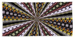 Stained Glass Kaleidoscope 1 Bath Towel by Rose Santuci-Sofranko