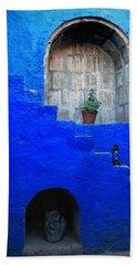 Staircase In Blue Courtyard Bath Towel