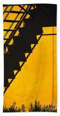 Bath Towel featuring the photograph Staircase Shadow by Silvia Ganora