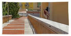 Stairway In Monaco French Riviera Bath Towel