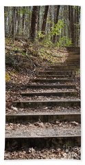 Stairway In The Forest Bath Towel