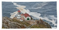 Bath Towel featuring the photograph Stairway Leading To Point Reyes Lighthouse by Jeff Goulden