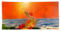 Hand Towel featuring the painting Stairway To Heaven by Michael Rucker