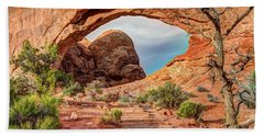 Stairway To Heaven - North Window Arch Hand Towel