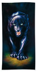Stalking Panther Hand Towel by Andrew Farley
