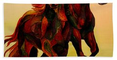 Stallions Hand Towel by Sherry Shipley