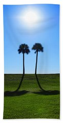 Stand By Me - Palm Tree Art By Sharon Cummings Bath Towel