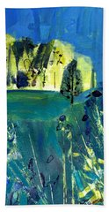 Stand Of Trees In Distance Bath Towel