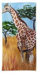 Standing Giraffe Hand Towel