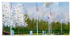 Standing Guard Over Veterans Park Hand Towel