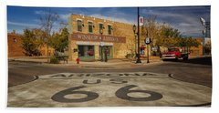 Standing On The Corner In Winslow Arizona Dsc08854 Hand Towel by Greg Kluempers
