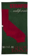 Stanford University Cardinal Stanford California College Town State Map Poster Series No 100 Hand Towel by Design Turnpike