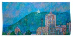 Bath Towel featuring the painting Star City by Kendall Kessler