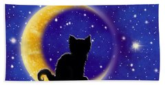 Star Gazing Cat Hand Towel