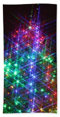 Star Like Christmas Lights Bath Towel by Patrice Zinck