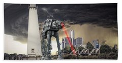Hand Towel featuring the photograph Star Wars All Terrain Armored Transport by Nicholas  Grunas