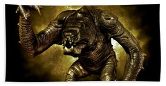 Star Wars Rancor Monster Hand Towel by Nicholas  Grunas