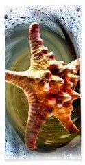 Hand Towel featuring the digital art Starfish by Daniel Janda