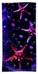 Starfish Galaxy Hand Towel by Patricia L Davidson