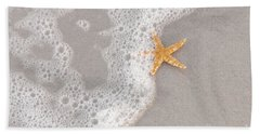 Starfish In The Surf Hand Towel