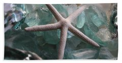 Hand Towel featuring the photograph Starfish With Sea Glass by The Art of Alice Terrill