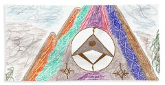 Stargate Hand Towel by Mark David Gerson