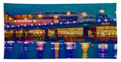 Starry Night At Nationals Park Hand Towel by Jerry Gammon
