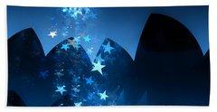 Bath Towel featuring the digital art Starry Night by GJ Blackman