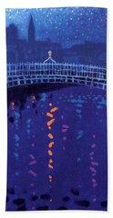 Starry Night In Dublin Hand Towel