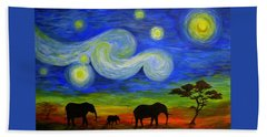 Starry Night Over Africa Hand Towel