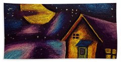 Starry Night Bath Towel by Salman Ravish