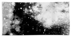Stars And Cloud-like Forms In A Night Sky Bath Towel