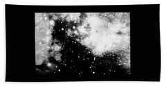 Stars And Cloud-like Forms In A Night Sky Hand Towel