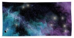 Starscape Nebula Bath Towel