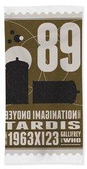 Starschips 89-bonus-poststamp - Dr Who - Tardis Hand Towel by Chungkong Art
