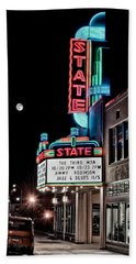 Hand Towel featuring the photograph State Theater by Jim Thompson