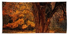 Hand Towel featuring the photograph Stately Oak by Priscilla Burgers