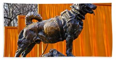 Statue Of Balto In Nyc Central Park Bath Towel