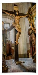 Statue Of Jesus Bath Towel