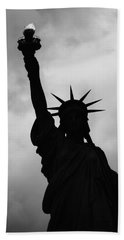 Statue Of Liberty Silhouette Hand Towel